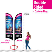 10' Feather Flag Double Sided