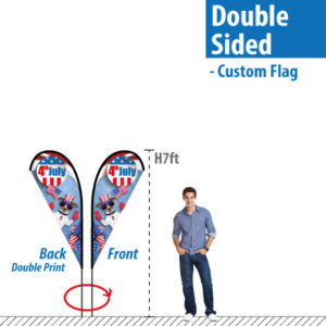 Double Sided Feather Flag