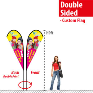 Double Sided Feather Flags 9'