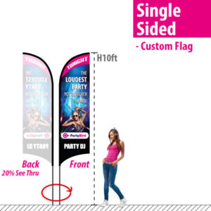 10' Feather Flag - Single Sided