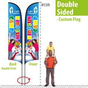 H13ft Custom Feather Flags Double Sided