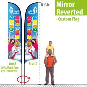 Custom Feather Flags mirror sided 13'