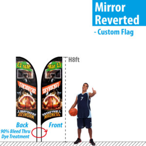 Feather Flag mirror double sided