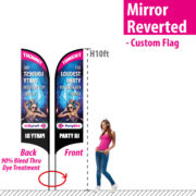 10' Feather Flag - Mirror Double Sided